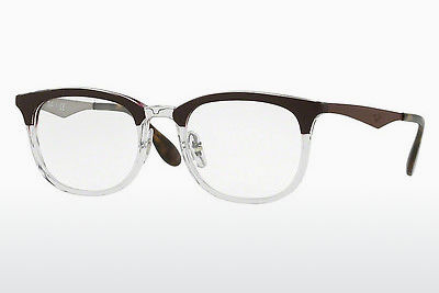 Okuliare Ray-Ban RX7112 5685 - Transparent, Hnedá