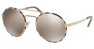 Prada PR 51SS UAO1C0 LIGHT BROWN MIRROR GOLDPALE GOLD/TORTOISE