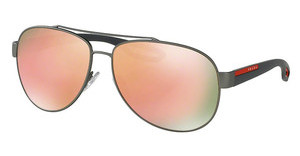 Prada Sport PS 55QS DG16Q2 LIGHT BROWN MIRROR PINKGUNMETAL RUBBER