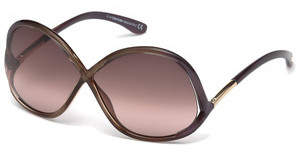 Tom Ford FT0372 69Z verspiegeltbordeaux glanz
