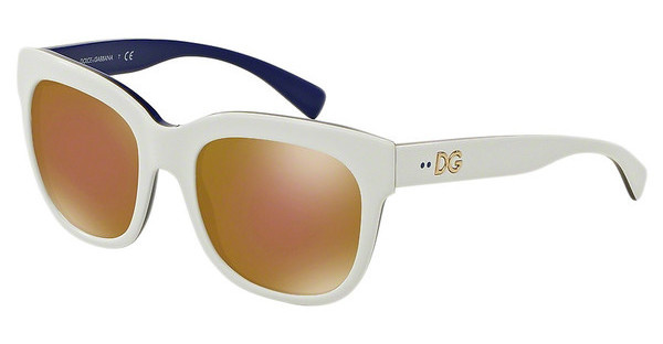 Dolce & Gabbana DG4272 3005F9 BROWN MIRROR BRONZETOP WHITE/GOLD/BLUE
