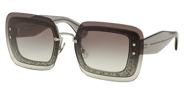 Miu Miu MU 01RS UES0A7 GREY GRADIENTTRANSPARENT GREY GLITTER