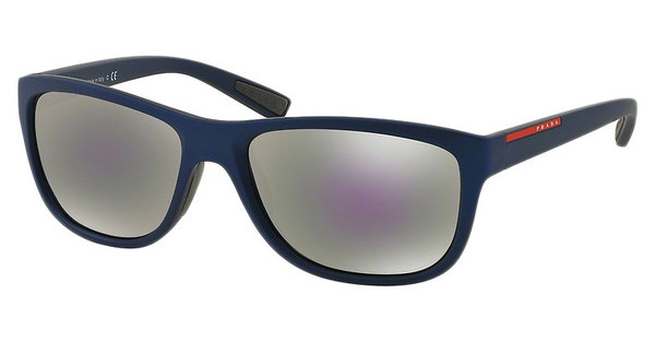 Prada Sport PS 05PS UAX2E2 GREY MIRROR MILKY BLUESHOT BLUE RUBBER