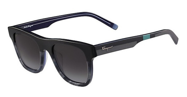 Salvatore Ferragamo SF824S 466 GREY/BLUE HORN